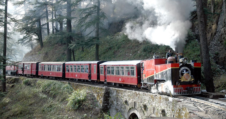 toy train with Golden Triangle with Shimla Tour