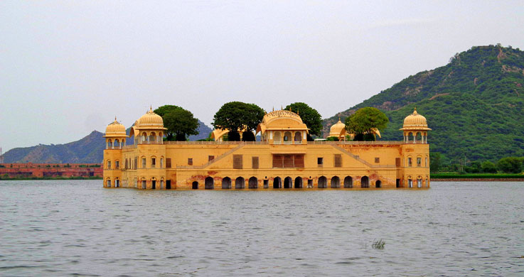 jal mahal with Golden Triangle Tour with Khajuraho and Varanasi