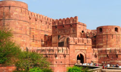 agra red fort in golden triangle with varanasi tour