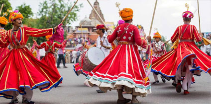 Drum Dance of Rajasthan Tourism and tourist guide