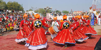 Gair Dance With Rajasthan Travel information guide