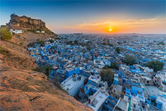 Sun city of Jodhpur in splendors of Rajasthan