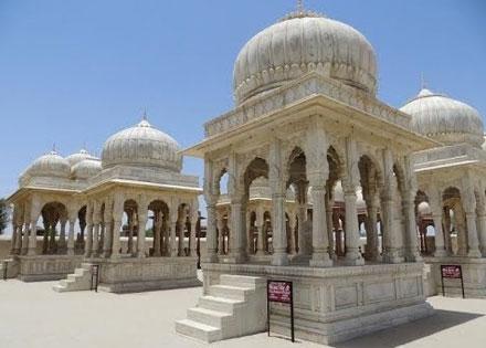 The royal cenotaphs bikaner