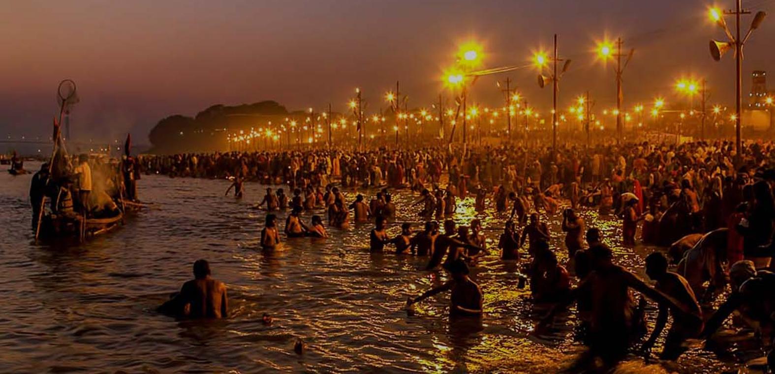 Amazing night experience during Allahabad Kumbh Mela