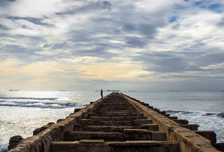 Take a walk through the scenic Thalankuppam Pier