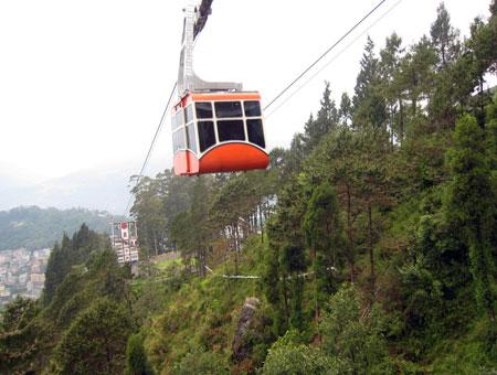cable car ride in Darjeeling