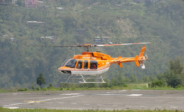 Helicopter Ride in Gangtok