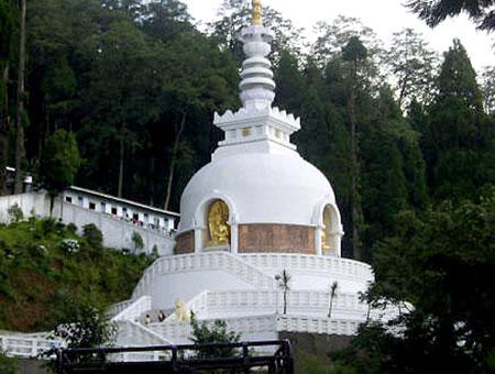 Peace Pagoda in Darjeeling