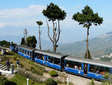 Enjoy the thrill of a toy train ride in Darjeeling