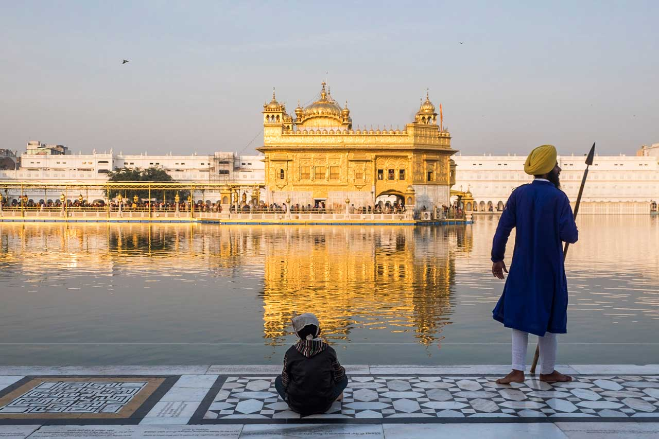 Golden temple in Amritsar with pilgrimage holiday destinations in india