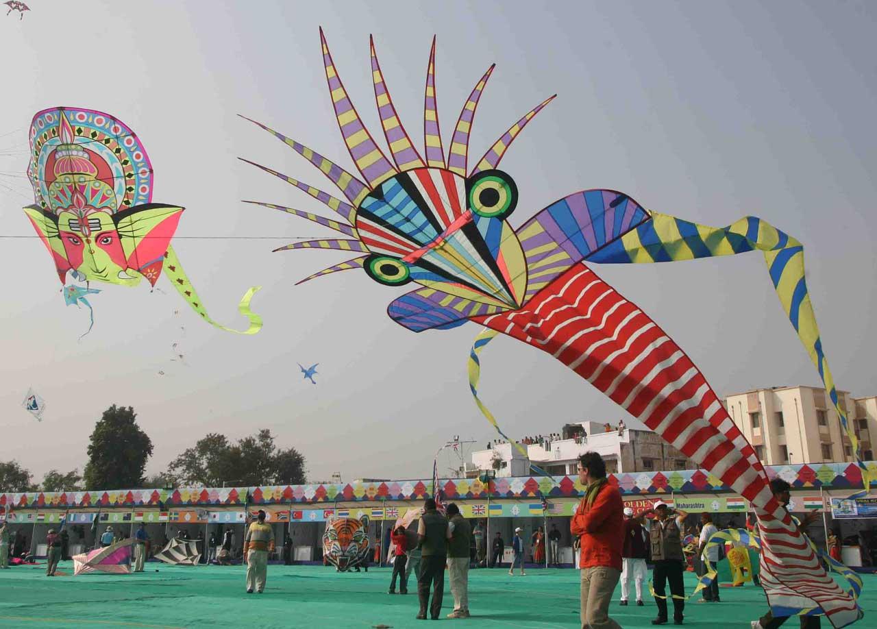 Kite festival, Uttarayan