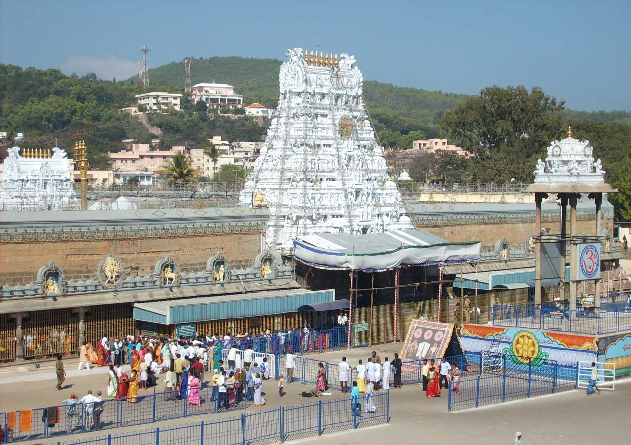 Tirupati temple in Andhra Pradesh with Spiritual Holiday destination In India