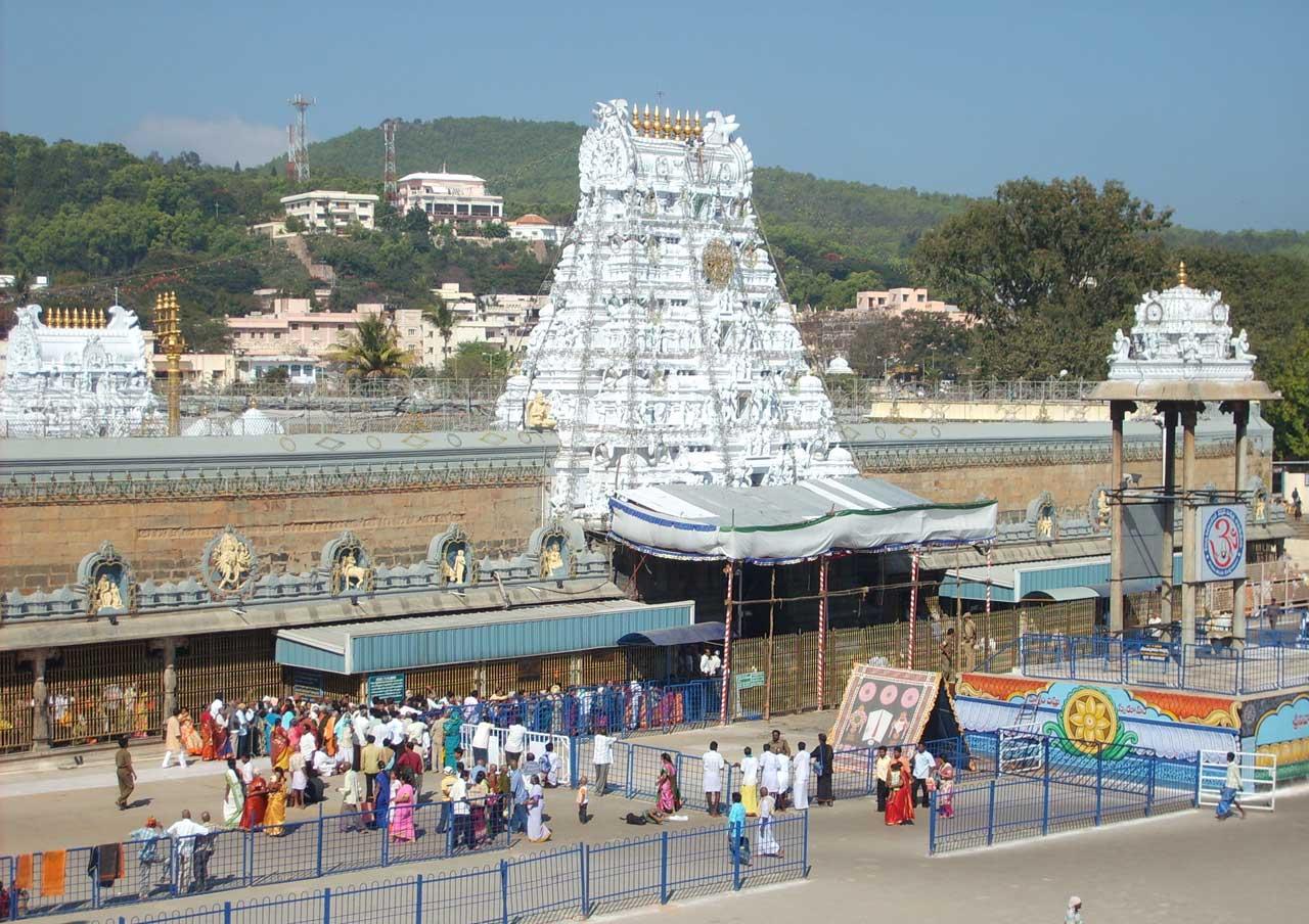 Tirupati temple in Andhra Pradesh with Spiritual Holiday destination In India