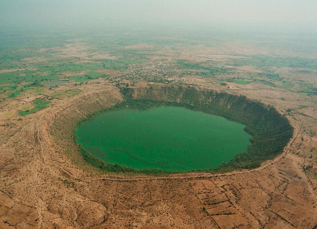 lonar crater lake in maharashtra