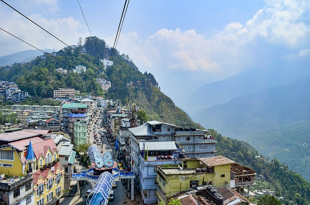 The Cable Car ride in Gangtok